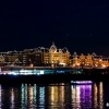 夜の東京散歩:川の対岸はディズニーランド