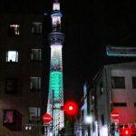 夜の東京散歩:東京スカイツリーが在る街