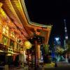 夜の東京散歩:深夜の浅草